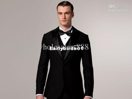Wholesale Custom Design Size and Color Groom Tuxedos Peak Lapel Best Man Suits Jacket Pants Tie Vest G604