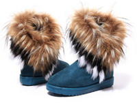 Wholesale Winter Warm Women Snow Boots Plush Wool Shoes Snowboots Cotton Fluffy Short Floor Woman Boots Colors