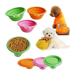 Wholesale 215 Environmental Friendly Ros Silicone Pet Collapsible Travel Bowl Dog Folding Bowl Portable Pet Food Container