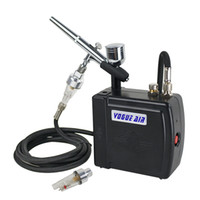 Wholesale Dual Action Airbrush Compressor Kit Makeup Cake Nail Tattoo Art Spray Gun Hobby