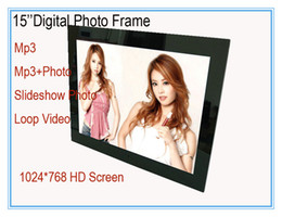 Wholesale HD inch Digital Photo Frame LCD advertising player music photos screen resolution