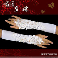 Wholesale pairs Ladies ivory Stretchy Satin lace gloves wedding bridal opera a15