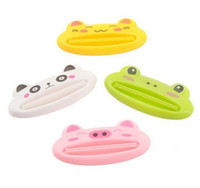Cheap Novelty Items Lovely Animal Bathroom Dispenser Toothpaste Squeezer 50pcs lot Free Shipping