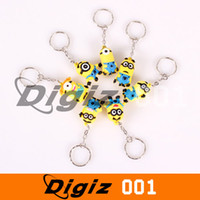 Wholesale Despicable Me Capsules Doll Hangings Keychain Keyring With Retail Packing