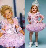 Wholesale 2013 New Mini Jerwel Glitz Pageant Ball Gown Little Girl Party Dress Rhinestone Cupcake Half Sleeve Kids Dress dhyz