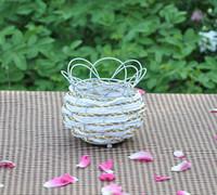 iron fence - Iron wire rattan fence fence flower pot handmade kint handmade rattan