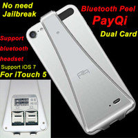 Wholesale Bluetooth Peel PayQi V4 Dual Sim IOS7 for iPod touch ipad mini amp support Bluetooth headphone