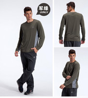Wholesale Multifunction Men Champion Sportswear Outdoor Camping Hiking Shirts Tops Nano TC Quick Dry Base Layers Tees Outdoor S XXL Army Green