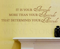 attitude walls - 5pcs Wall Decal Sticker Quote Vinyl Art Removable Attitude is Most Important