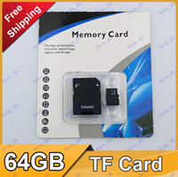 TF / Micro SD Card 64GB 100pcs DHL 64GB Class 10 Memory SD Card TF Memory Card with Free Adapter and Retail Package 1 Day Dispatch 5D 60D 70D 700D EOS 6D