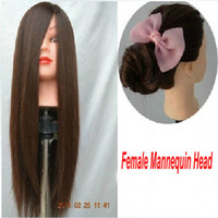 Wholesale Hot Sale Cosmetology Mannequin Training Head with Brown Wig with Table Clamp Holder