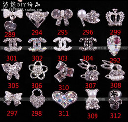 Wholesale 24 Styles Pick D Alloy Crystal Rhinestone Nail Art Glitter DIY Decoration