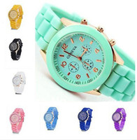 Wholesale New Shadow Style Geneva Watch Rubber Candy Jelly Fashion Men Wamen Silicone Quartz Watches