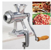 Wholesale Aluminum Alloy Multi Function Manual Meat Grinder Noodle MakerSausage Stuffer Mincer Table Hand Crank Tool Kitchen