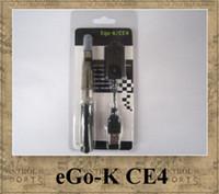 Ego-K CE4 ego kit de démarrage blister pack cigarette électronique 650mah ego-t batterie colorée smokevapors CE4 CE5 CE6 vapore atomiseur de réservoir