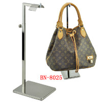 Wholesale Stainless Steel Bag Rack Floor Bag Handbag Display Stand Luggage Counters Showcase Props BN