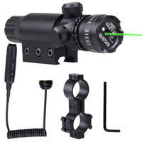Wholesale Tactical Hunting Adjustable Green Laser Dot Sight Scope with Mounts for For Pistol Gun Rifle Black