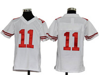 Wholesale New Kids American Football Jerseys ERS Alex Smith White Football Jerseys High Quality Discount Sport Shirt Best Selling Youth Jerseys