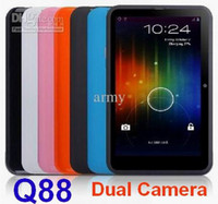 7 inch android 2.2 - 7 quot Dual Camera Q88 Allwinner A13 Boxchip With WiFi Android Skype Phone Calling Tablet PC MID wiith with Capacitive MB DDR3 GB