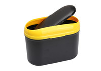 Wholesale Car Dustbin Bin Auto Convenient Simple Trash Black Yellow Mini Can Dust Bin Environment friendly Car Garbage