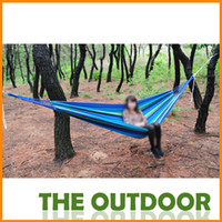 canvas 880g 200*100cm 100*200cmCamping bed tourism hunting Leisure hammock double people outdoor swing canvas String hammock
