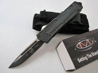 Wholesale outdoor gear Black microtech fine blade OTF knife with a spring assist opens by pushing the button cool gift