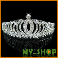 Hair Combs Rhinestone/Crystal Alloy New Bridal Rhinestone Crystal Prom Crown Bridal Tiaras & Hair Accessories Wedding bridal jewelry alloy Bridal Crown HQ0076
