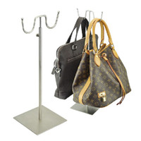 Wholesale Stainless Steel Bag Rack Floor Bag Handbag Display Stand Luggage Counters Showcase Props BN