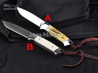 Wholesale 100 Real HK HARNDS HK3008 Frost Fixed blade camping knife Swedish Sandvik C27 blade HRC survival tools leather sheath