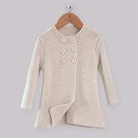 Girl children fashion sweater - New Fashion Children Autumn Sweater Kids Beige Cotton Wear For Girls Christmas Children Fall Halloween Coat OC30916