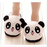 plush slippers - Indoor slipper for lovers Thermal slipper for Winter Cartoon slipper Panda face cute panda slipper for family