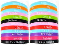 Women's bieber bracelet - New Justin Biber Silicone Bracelets mm Charm Wristbands Jewelry summer love mrs bieber believe baby music style