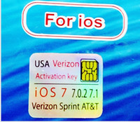 Unlocking Card For Apple iPhone  SUPPORT 18th Sep official IOS 7 Genuine GPP Sim AUTO Unlock iPhone 4S iphone4s AU Sprint Verizon