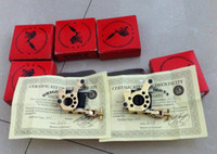 Wholesale 2pcs best quality original micky sharpz brass shader and line HYBRID TATTOO MACHINE WITH CERTIFICATE AND BOX