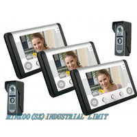 Wholesale 7 quot LCD Color Video Door Phone DoorBell Kit Intercoms Monitors IR Cameras