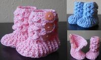 achat en gros de boutons de mode chine-35% de rabais Haut-top fashion tassel crochet boots.0-1 ans baby.Newborn bottes boutons latéraux / bébé usure / chaussures enfant / vente / Chine / bon marché 6pairs / 12pcs