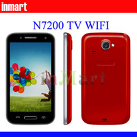 Wholesale Color Case for gift N7200 inch TV WIFI Dual SIM Quad Band Unlocked cell Phone N9 F8 in our store