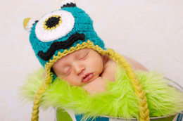 Wholesale Baby Crochet Monster hat Handmade beanie Animal Baby Boy Monster Hat Adorable Toddler Hat Photo prop