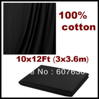 Wholesale x3 m x12 ft Pro Studio Backdrop Photography Background Black Cotton Muslin