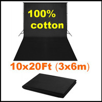 Wholesale x6m x20 Chromakey Black Screen Muslin Backdrop Photo Studio Photography Background