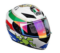other agv free - Dr authentic Italy s top motorcycle helmets full face helmet sports car helmet AGV K3 Rossi flower