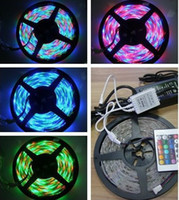 Holiday SMD 3528 Yes RGB 3528 SMD LED Strip Light + Remote Control 24key + Adapter 12V 2A Free by China Post