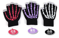 Blending Man Pink new 2013 Christmas gift To keep warm in winter Touch control induction phone gloves The skeleton hand claw Gloves