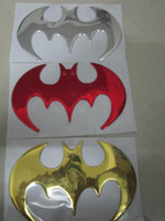 Personalized Sticker Whole Body RED ,GOLD ,SILVER 100 pcs lot new big size 3d pvc Batman stickers decals for car auto bumper stickers