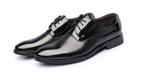 new style man dress shoes - NEW HOT Fashion style Men s wedding shoes Mens Shiny fold leather shoes Unique men casual shoes Eur size HM92