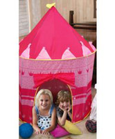 Wholesale Kids Tent Easy Child Castle New Palace Tent for Kids blue pink