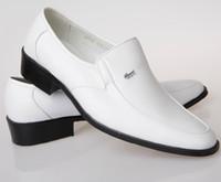 Wholesale NEW HOT style Men s wedding shoes Mens Shiny leather shoes Unique White men casual shoes Eur size HM95