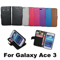 Leather aces high cover - High Quality Litchi Wallet PU Flip Leather Case Cover With Credit Card Slots Pouch Stand For Samsung Galaxy Ace S7270