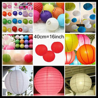 Lantern Holiday PL40A 16''Wedding Favors Lanterns Lights 40cm 16inch Chinese Paper Lantern Party decorations Hanging Lanterns Garden or Sea Wedding Marriage Items