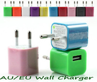 Wholesale Travel USB Wall Outlet Adapter Charger for iphone5 Iphone AC Power US Or EU Plug V A